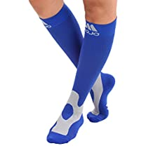 Mojo Coolmax Recovery & Performance Sports Compression Socks (Small, Navy)