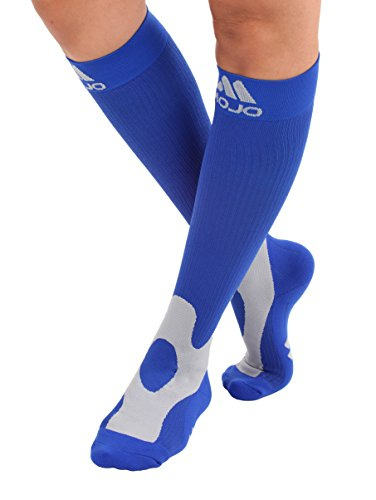 Mojo Compression Unisex Socks 20-30 Made with Coolmax and Soft Easy to get on Materials. Medical Graduated Support Socks for Men and Woman Compression Stockings