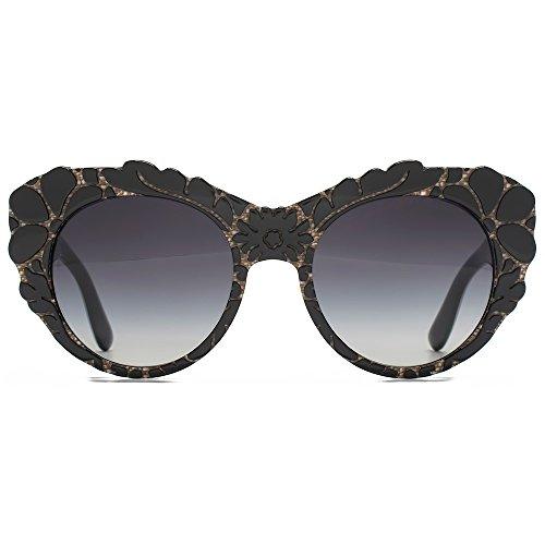 Dolce   Gabbana Tissu texturé Cateye lunettes de soleil en noir DG4267  29988G 53 Gradient Grey 02b060e6e0a1