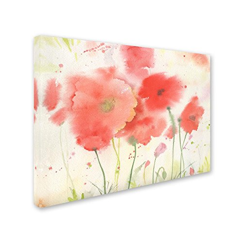 Coral Fiesta by Sheila Golden, 14×19-Inch Canvas Wall Art