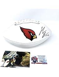 John Brown Arizona Cardinals Signed Autograph Embroidered NFL Football JBROWN Coa & Hologram W/Photo