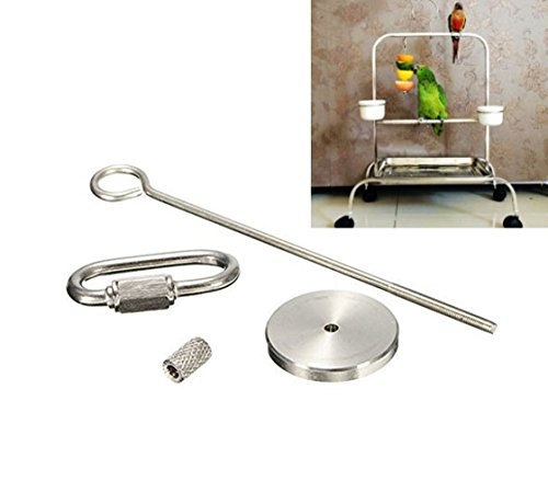mkki Stainless Steel Small Parrot Toy Meat Kabob Food Holder Stick Fruit Skewer Bird Treating Tool Durable Bird's cage Accessories (L) ()