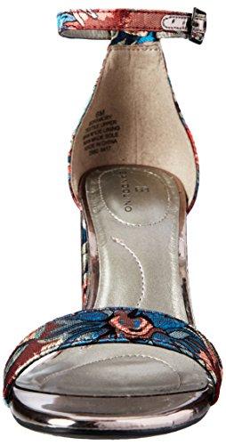 Bandolino Womens Armory Heeled Sandal Blue Jacquard UGVb01ji