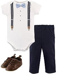 Cotton Bodysuit, Bottoms and Shoe Set