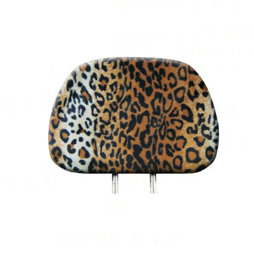 headrest covers leopard - 1