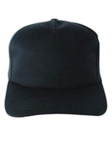 Occunomix V410BK Baseball Style Bump Cap, Polyethylene Insert, Black