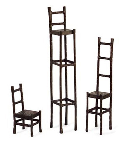 Imax Chairs Cast Iron Decorative Scuptures, Set of 3 by IMAX by Imax