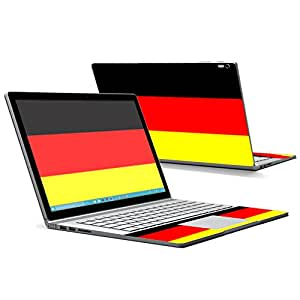 MightySkins Protective Vinyl Skin Decal for Microsoft Surface Book case wrap cover sticker skins German Flag