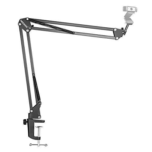 Price comparison product image Neewer Desktop Clamp Adjustable Suspension Boom Scissor Double-braced Arm Stand Holder 360 Degree Rotation Swivel Mount,  Load up to 4.4 pounds / 2 kilograms for Logitech Webcam C922 C930e C930 C920 C615