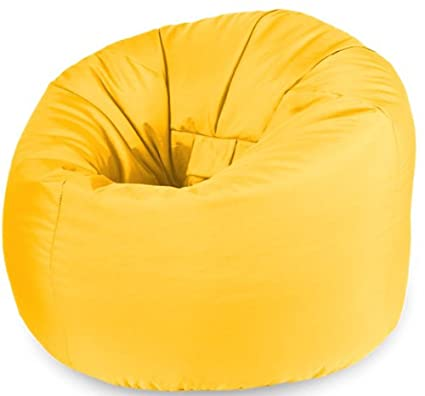 Beautiful Beanbags X-L Poltrona Sacco Giallo Resistente all' Acqua per Interni ed Esterni Grande Giardino sedili YELL-OD-CL