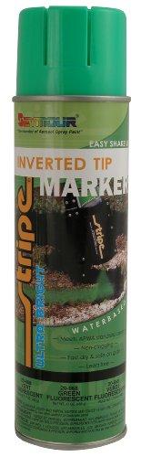 (Seymour 20-668 Stripe Inverted Tip Marker, Green Fluorescent)