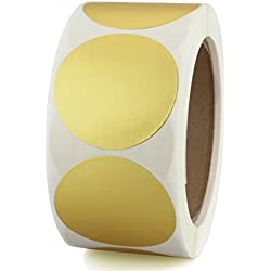 "2"" Metallic Gold Color-Code Dot Sticker Labels 