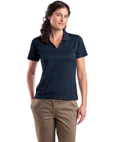 Sport-Tek - Ladies Dri-Mesh V-Neck Performance Polo Sport Shirt. L469 - Navy - L