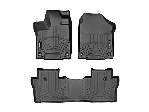 2016 Honda Pilot-Weathertech Floor Liners-Full Set (Includes 1st and 2nd Row) Black
