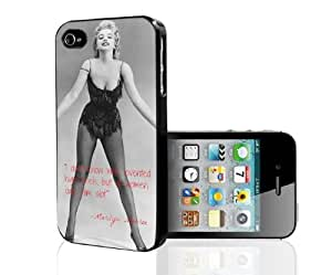Marilyn Monroe in Black Swimsuit Whoever Invented High Heels Quote Hard Cell Phone Case Cover iPhone (i5 5s)