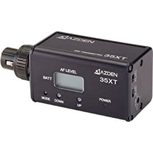 azden 35xt wireless uhf xlr plug in transmitter musical instruments. Black Bedroom Furniture Sets. Home Design Ideas