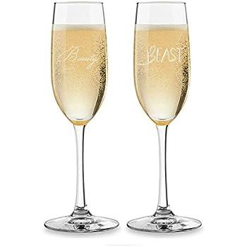 Amazon Com Elegant Vintage Rose Wedding Toasting Flutes