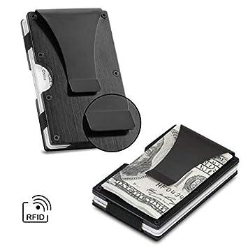 Metal cartera aviación aluminio cartera luz Slim tarjeta de ...
