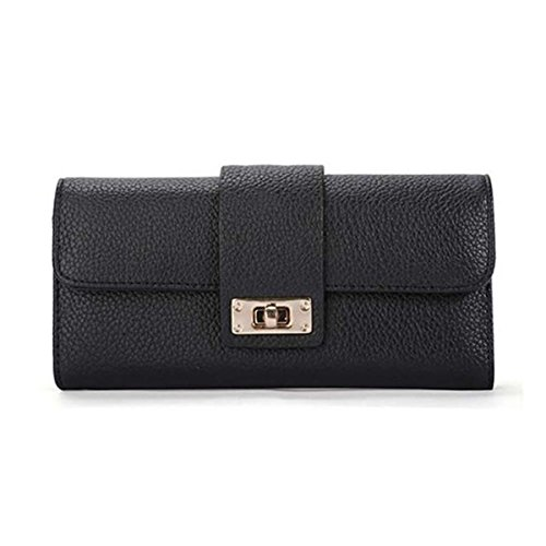 Handbag Bifold Long YIYI Ladies Purse Phone Women Leather Wallet Card black Holders For Clutch Girls Coin ID Fashion SHIS7