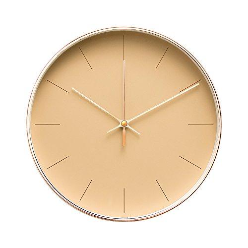 Arospa Minimalist Design Contemporary Cream Palette 9.5' Non-Ticking...