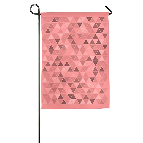 (LF-LFFT Triangular Shape Background Shading Garden Flag Indoor & Outdoor Decorative Flags for Parade Sports Game Family Party Wall Banner 2840Inch)