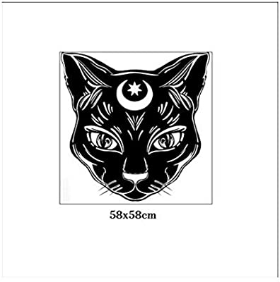 Gato negro luna bruja magia brujería vinilo tatuajes de pared ...