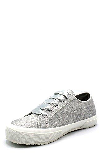 DPB0 Superga Zapatillas Cordones de Argento de Mujer Gris Zapatos Pies Plata de Plata TWcdpOW