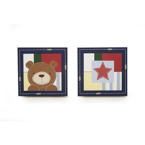 (Kids Line Oxford Bear 2-Piece Canvas Wall)
