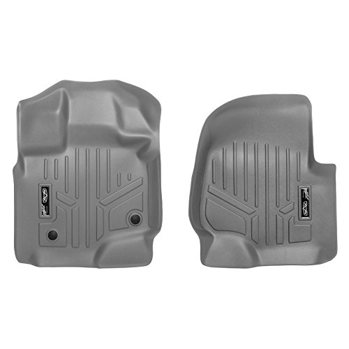 MAX LINER A2167 Gray Custom Fit Floor Mats 1st Row Liner Set Grey for 2015-2019 Ford F-150 SuperCab or SuperCrew Cab ()