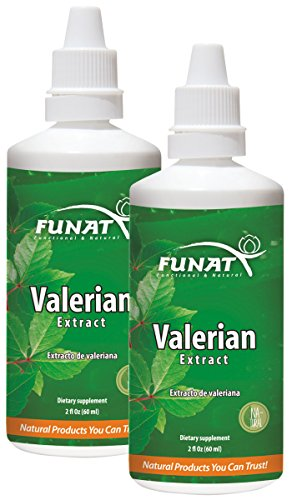 Funat Valerian Root Extract Drops Pure Sleep Aid for Adults 120ml 4Oz Gotas de Valeriana para Relajarse y Dormir