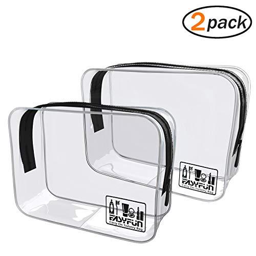 Easyfun TSA Approved Travel Toiletry Bag Travel Accessories Clear Quart Size Toiletries Bags ()