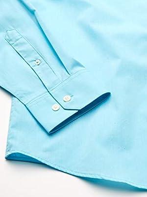 IZOD Men's Slim Button Down Long Sleeve Stretch Performance Solid Shirt