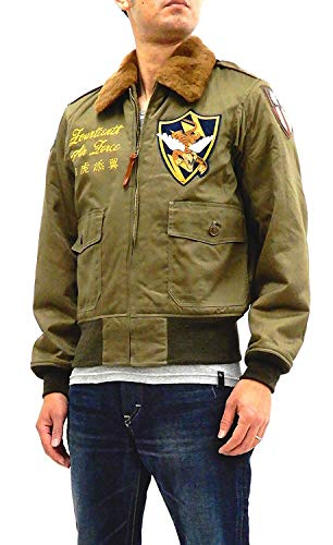 (Buzz rickson's Men's Painted USAAF B-10 Flight Jacket Flying Tigers BR14189 Japan 40 (US M/UK 38) )