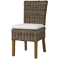 Padmas Plantataion Boca Chair, Kubu with White Cushion
