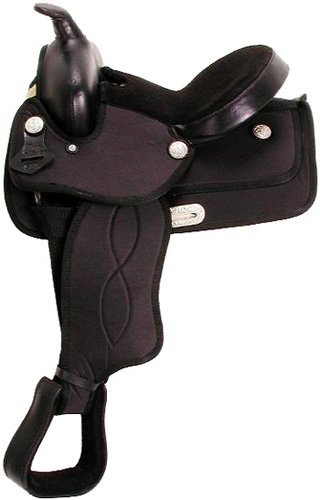King Series Synthetic Pony Saddle 11 Black