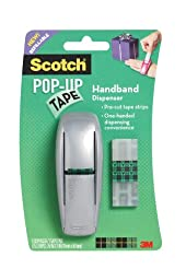 Scotch Pop-Up Tape Handband Dispenser, 3/4 x 2 Inches, 75 Strips/Pad, 1 Pad/Pack - Colors May Vary (96-G)