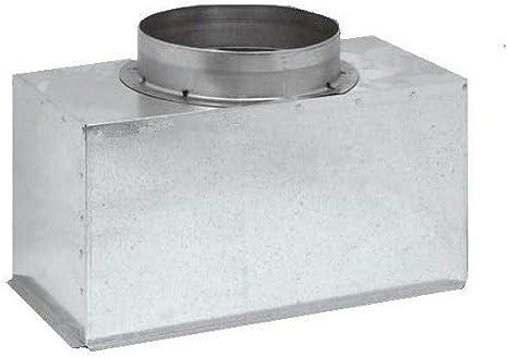 sezione 800 x 300 diametro 305 Plenum in lamiera dacciaio zincata coibentato per bocchette e griglie lineari