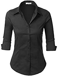 Amazon.com: Black - Blouses & Button-Down Shirts / Tops & Tees ...
