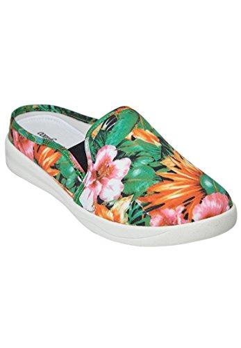 Comfort Kvinners Bredt Camellia Sneaker Tropisk Floral