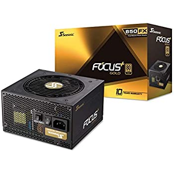 Seasonic Focus Plus 850 Gold SSR-850FX 850W 80+ Gold ATX12V & EPS12V Full Modular 120mm FDB Fan 10 Year Warranty Compact 140 mm Size Power Supply