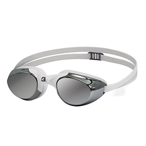 Barracuda Swim Goggle Mermaid Mirror - Mirror Lenses One-Piece Frame Soft Seals Streamlined Design, Anti-Fog UV Protection, Comfortable Fit Lightweight for Women Ladies #13110 (Silver)