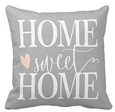 babyssj Home Sweet Home y rosa corazón gris funda de ...
