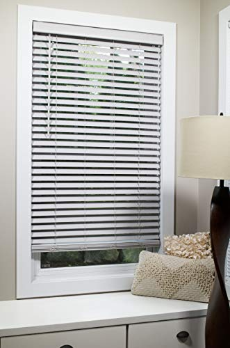 Lumino Faux Wood Flat Slat 2 Inch Cordless Room Darkening Blinds Gray – 70 x 72 (Over 250 Add'l Custom Sizes) – Starting at $13.49