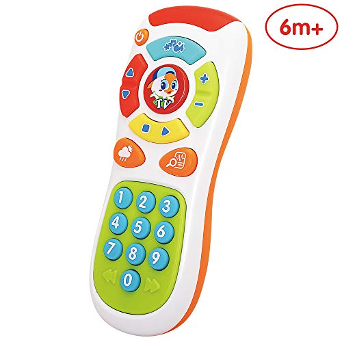 ANIKI TOYS My Remote Control, My Program with Music/Light/Language Learning, Baby RC Early Education Toy for Toddler…