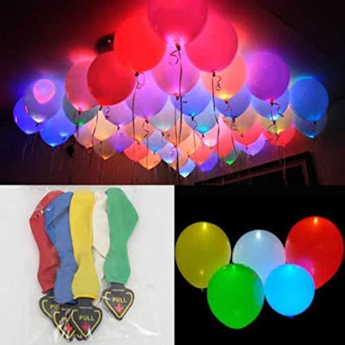 50 Palloncini Colorati LED - Palloncini Luminosi Luce Led 50 x Palloncini Colorati LED Palloncini Luminosi Luce Led 30cm per Decorazione Natale Festa Matrimonio Compleanno ArtBalloon