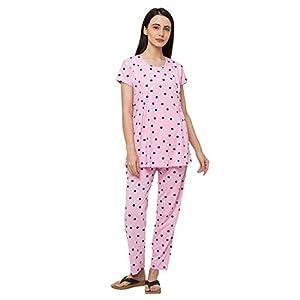 MomToBe Cotton Nursing Loungewear Top and Pajamas Set