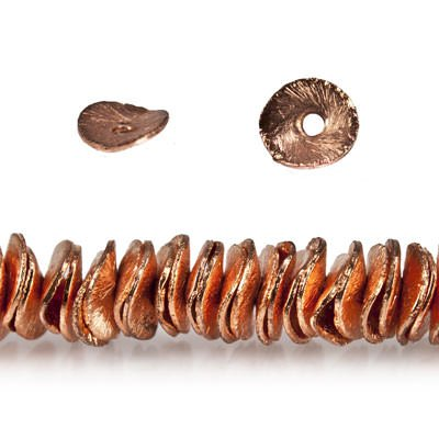 (6mm Copper Bead Wavy Disc, Brushed 8 inch 197 pcs)