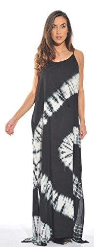 21614-BW-XL Riviera Sun Summer Dresses / Maxi Dress / Sundresses for Women , XL , Black / White