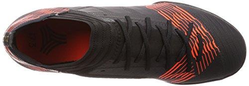 adidas Nemeziz Tango 17.3 TF, Botas de Fútbol Para Hombre, Negro (Negbas/Negbas/Rojsol 000), 43 1/3 EU