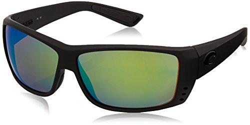 Costa Del Mar Cat Cay Sunglasses Blackout/Green Mirror - Best Lenses Who Polarized The Makes